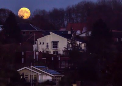 Supermåne over Skanderborg
