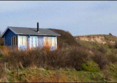 Hus ved strand
