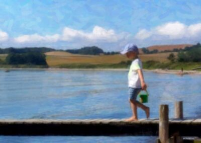 Dreng på bro